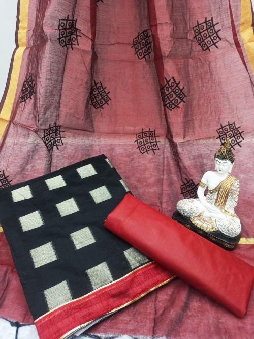 Rnx Bindiya 1010 Banarasi Cotton Dress Material